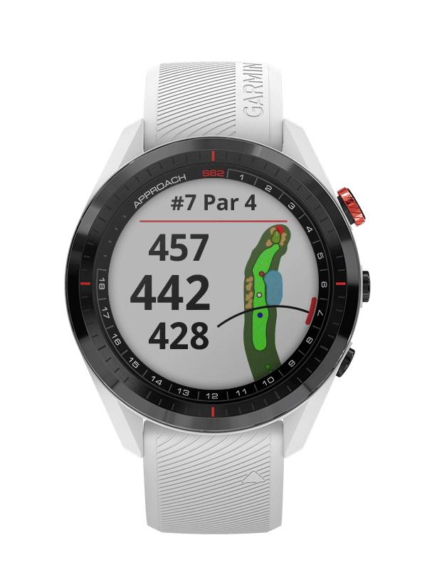 ガーミン「アプローチ S62」 時計屋スタッフが実際にゴルフ場で2ラウンド使用してみたのでレビュー|堺カントリークラブ - COLUMN |approach-s62-white